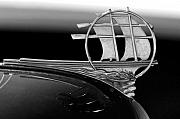 Jill Reger - 1934 Plymouth Hood Ornament black and white