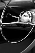 Jill Reger - 1957 Chevrolet Belair Steering Wheel black and white
