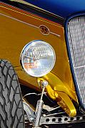 Jill Reger - Yellow and Blue Hot Rod Headlight